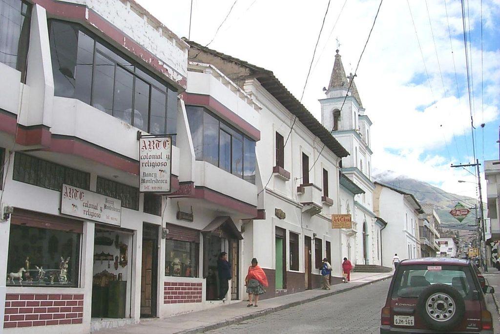Old monument Mitad del Mundo in San Antonio de Pichincha Ecuador.