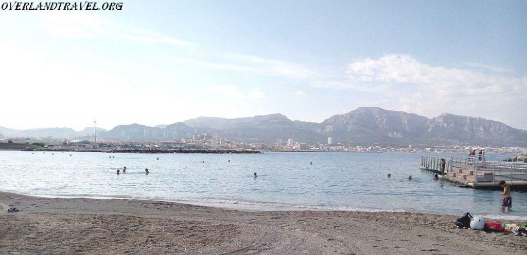 Plages du Prado located in Marseille, on the Mediterranean coast.