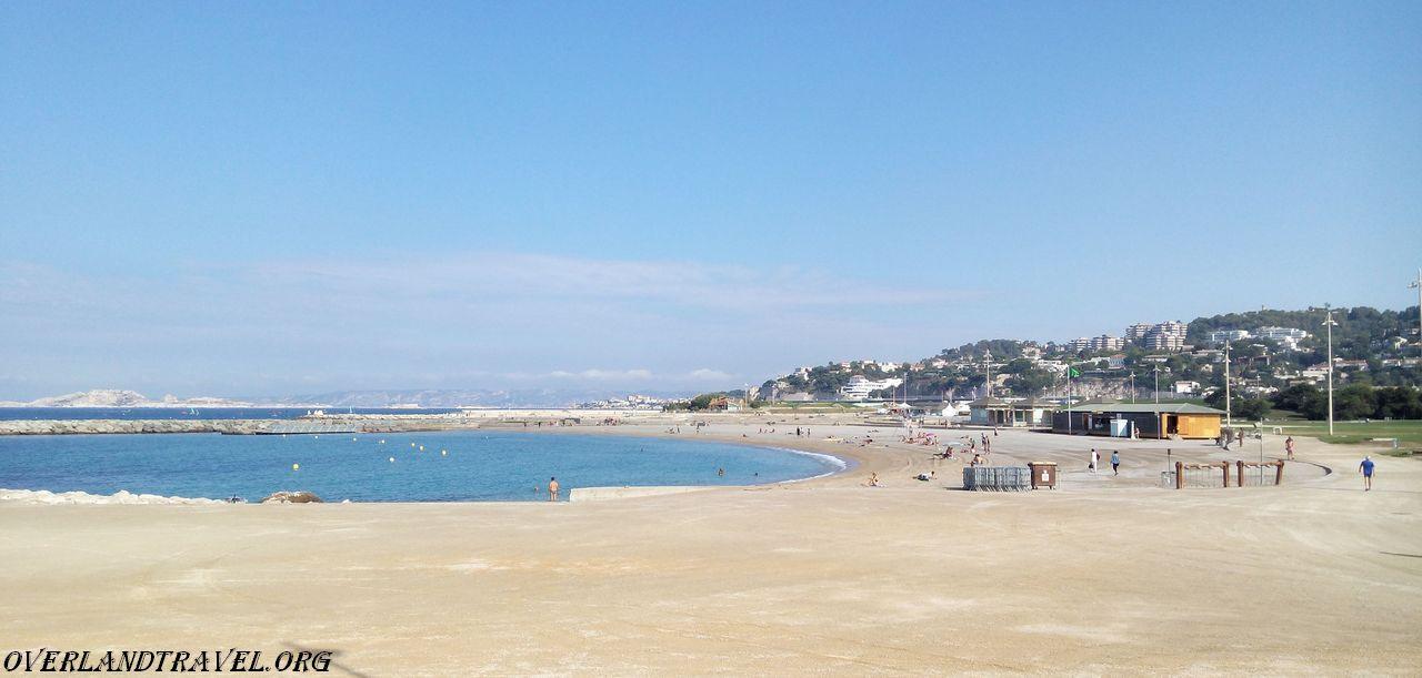 Plages Du Prado Located In Marseille On The Mediterranean Coast