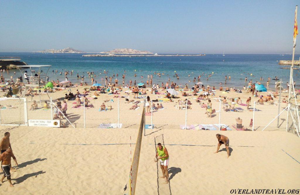 Marseille city beach