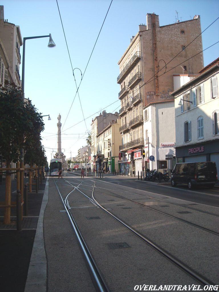 City tram in Marseille.