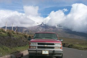 HC2/RA3DAK/M Transceiver IC-706MKII, Mobile Antenna MFJ-1620T, HF Stick, 20M. Chimborazo is a currently inactive stratovolcano in the Cordillera Occidental range of the Andes.