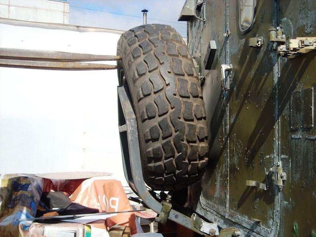 IFA-W50 крепление запасного колеса на КУНГ