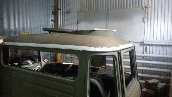 Подъём крыши кабины IFA-W50