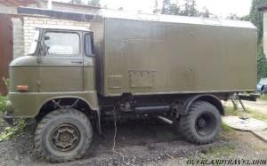 IFA-W50LA покраска КУНГа