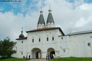 Founded in 1397 by the monk St. Cyril on the shore of Lake Siverskoye Kirillo-Belozersky Monastery