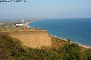 Kuchugury village on the coast of the Azov Sea.