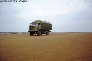 Overland travel Road trip Russia 4x4 WWII IFA-W50LA 4×4 White Sea.