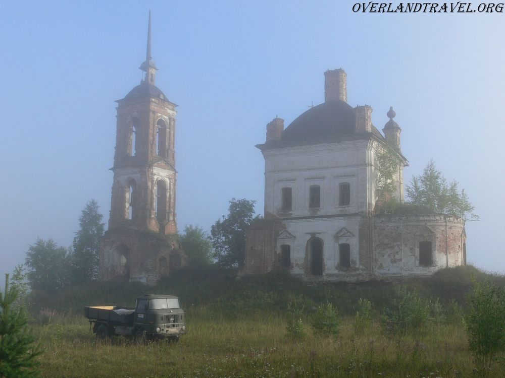 Abandoned church in the forests of the Kostroma region.