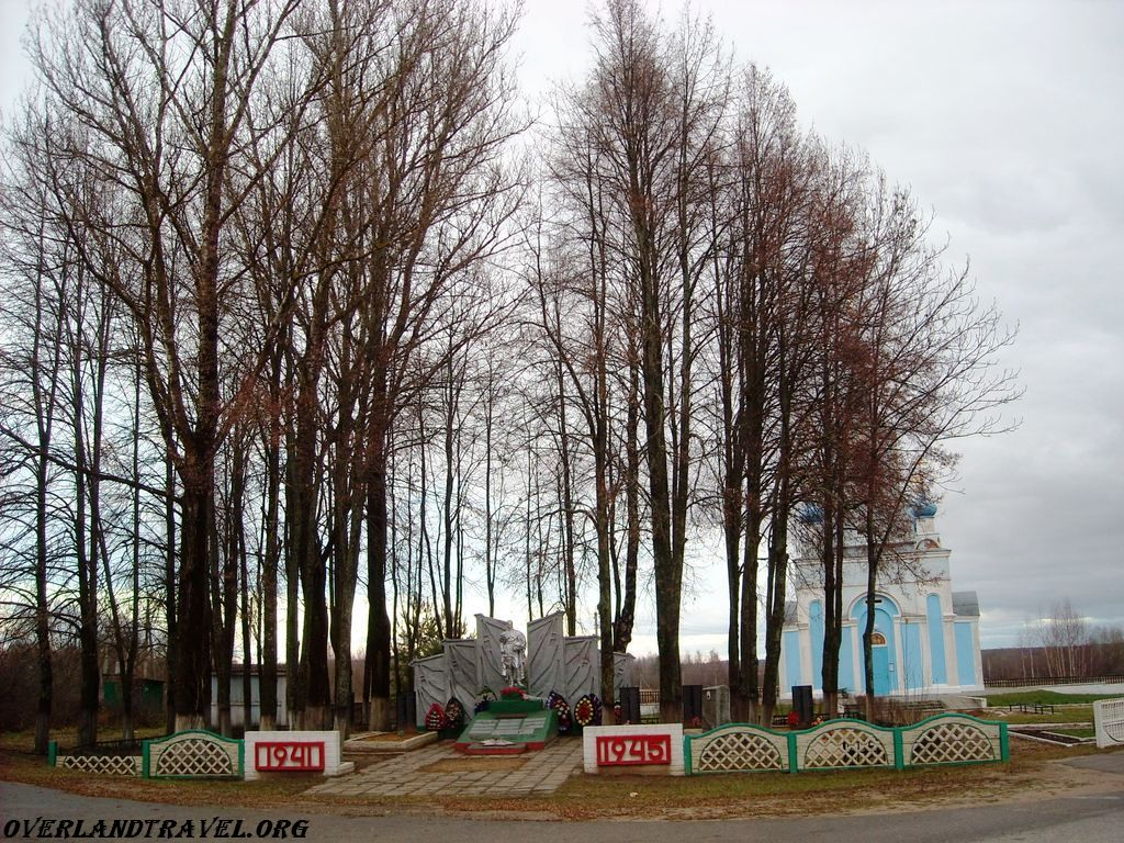 Old Smolensk road, a monument dedicated to the memory of those who fought against the Germans during World War II.