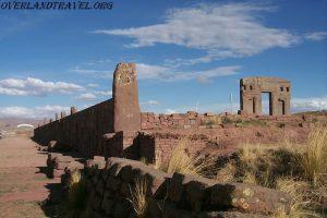 Tiwanaku Pre-Columbian archaeological site in Bolivia.