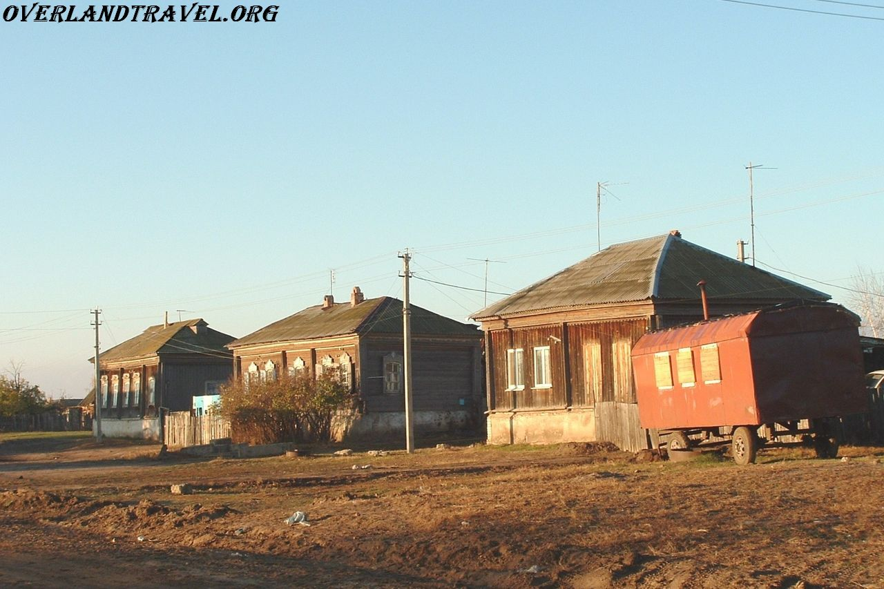 Saratov region, village.