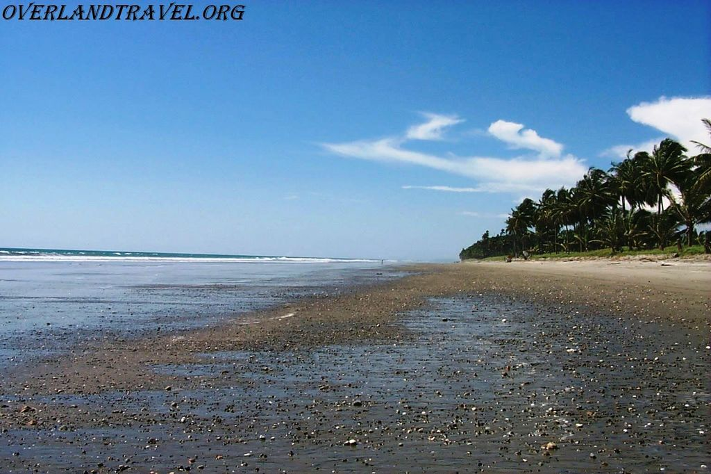 Beach Pedernales, Pacific coast Ecuador