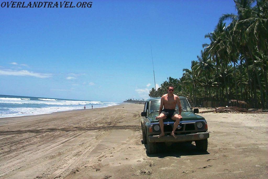Beach Pedernales, Pacific coast Ecuador