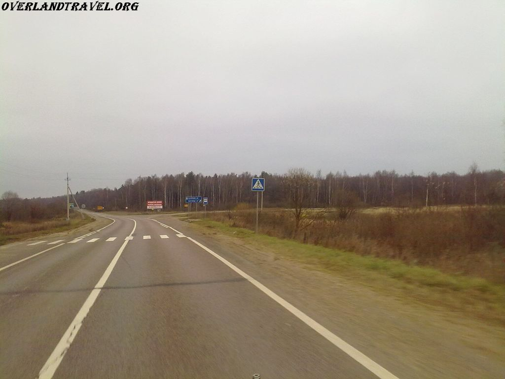 Russia, the road to Kalyazin.
