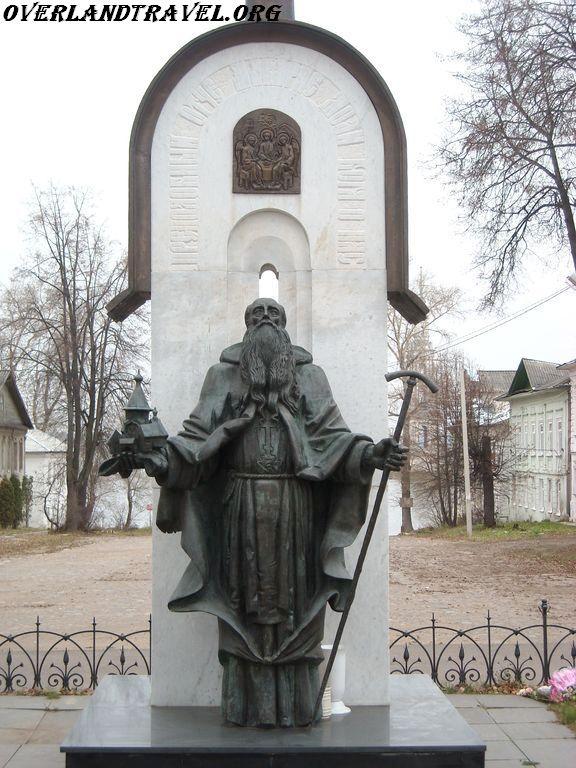 Russia, Kalyazin monument to St. Macarius Kalyazinsky.