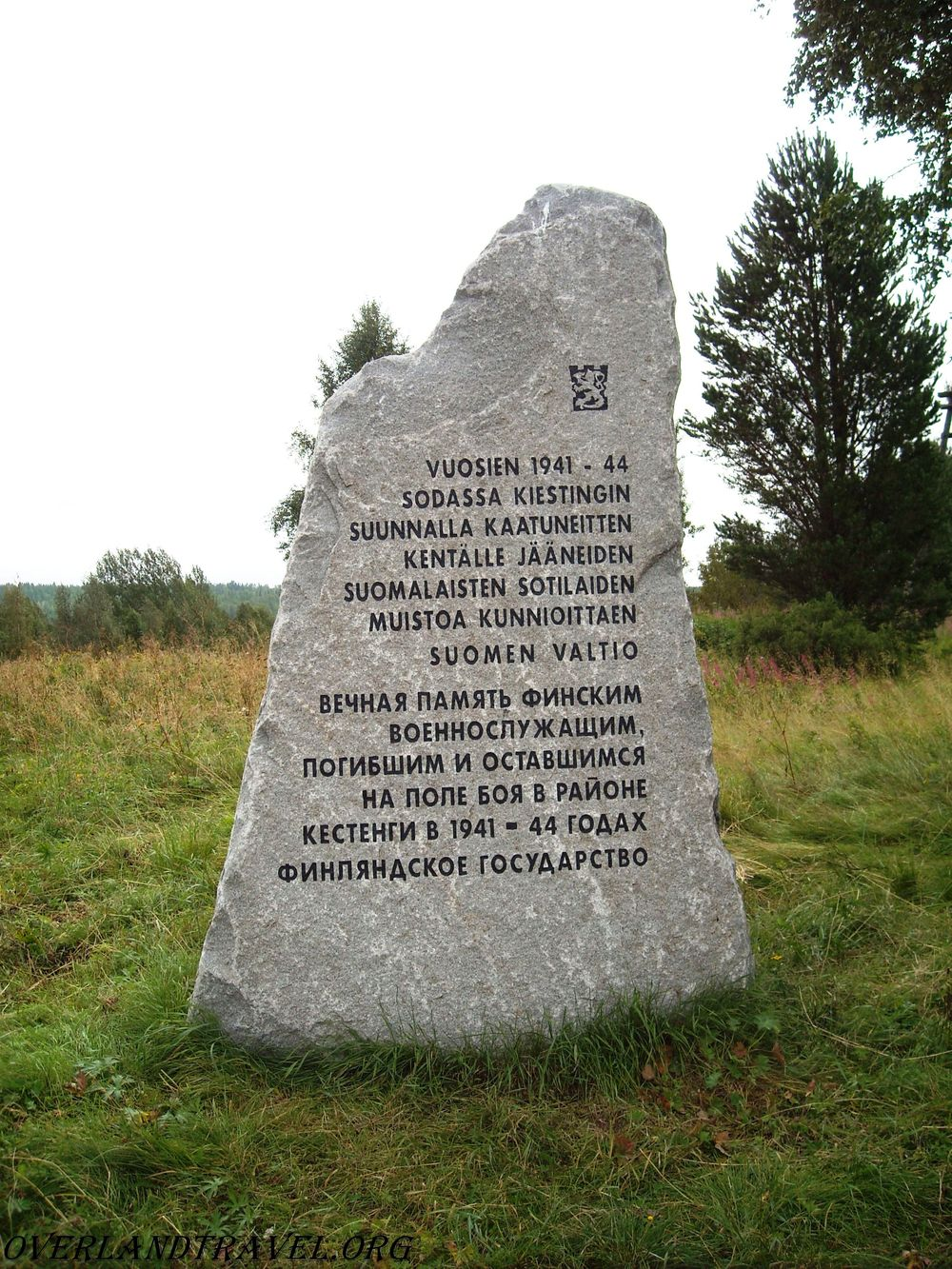 Monument of the Finnish soldiers