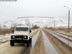 Mount of phosphogypsum – White Mountain. Voskresensk, Russia