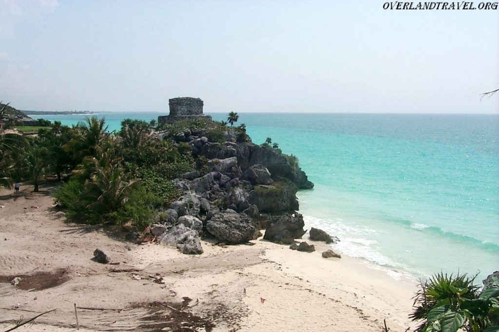 Tulum pre-Columbian Mayan city on the Yucatan Peninsula in Mexico