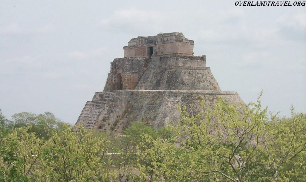 Uxmal Mexico, Pyramid of the Magician.
