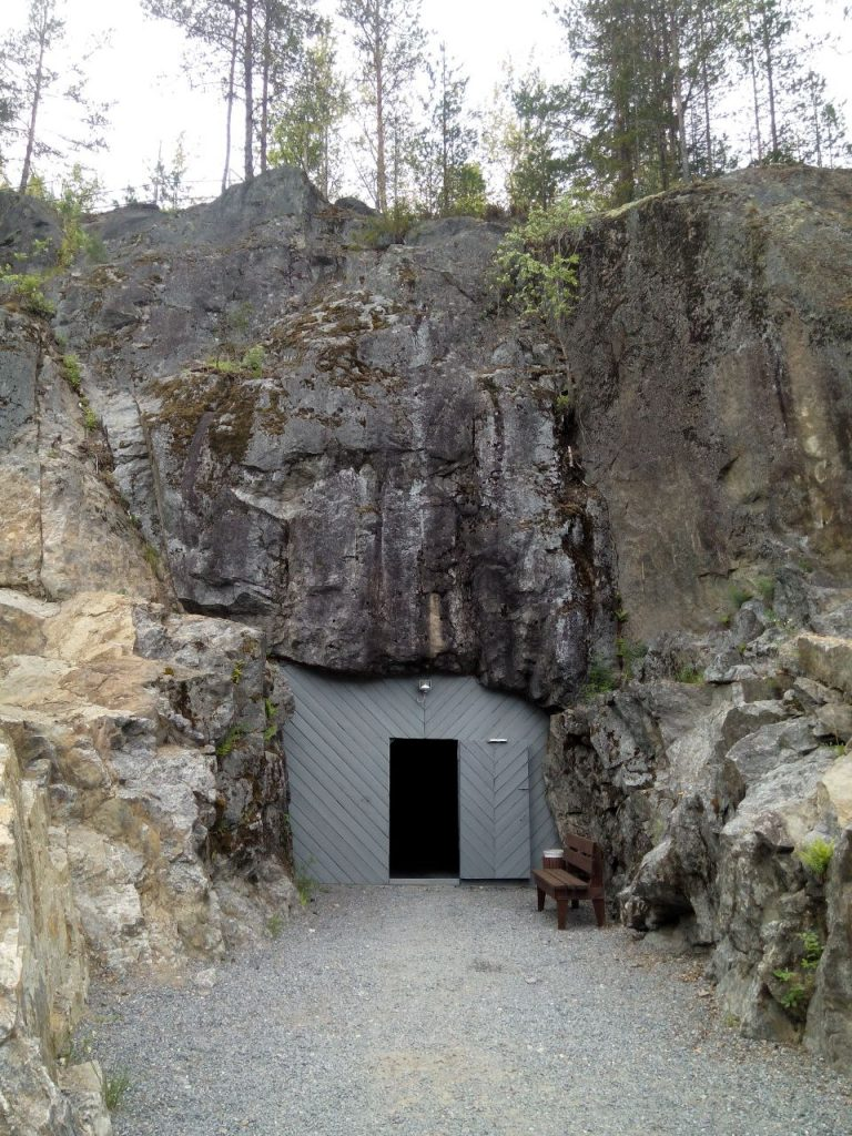 """Military complex """"Mount Filin"""", entrance to the bunker."""