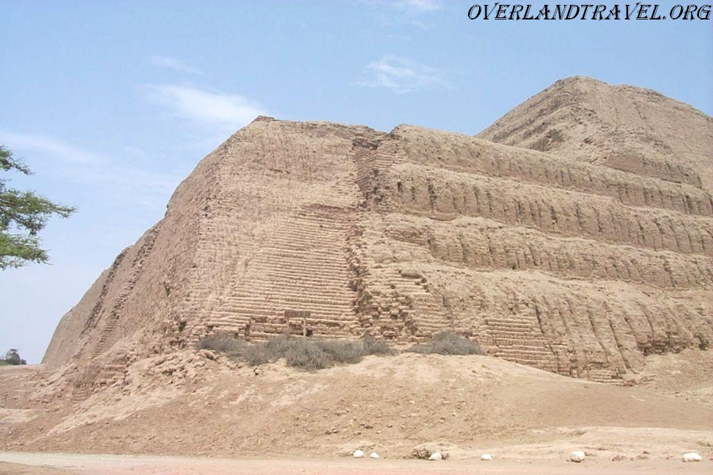 """Temple of the Sun """"Huaca del Sol"""" in Peru, South America."""